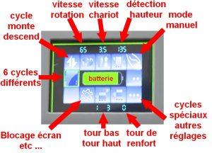 ROBOT FILMEUR FILET PALETTISATION écran LCD couleur
