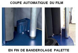 ROBOT FILMEUR FILET PALETTISATION coupe auto film étirable