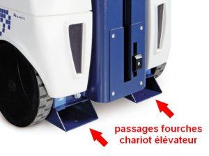 ROBOT FILMEUR FILET PALETTISATION emplacement fourche chariot élévateur