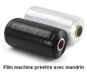 FILM PREETIRE MACHINE AVEC MANDRIN