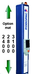 ROBOT-banderolage-PALETTE-S6-PDS option hauteur mat de banderolage