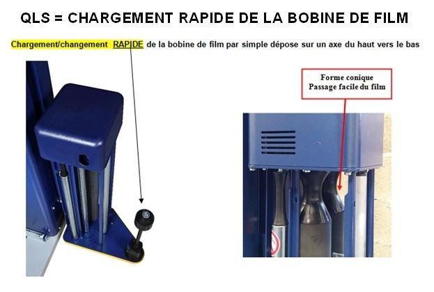 ROBOT-FILMEUR-PREETIRAGE-S6-PDS chargement rapide de la bobine de film étirable