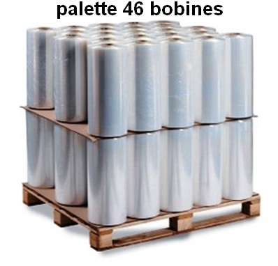 PALETTE 46 BOBINES FILM-ETIRABLE-AUTOMATIQUE-CAST-STANDARD