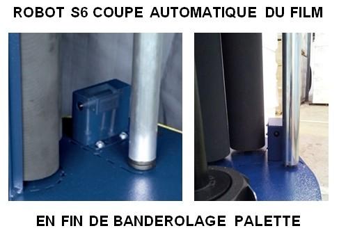 ROBOT FILMEUR S6 FRD coupe automatique film étirable