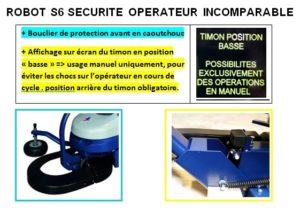 ROBOT FILMEUR S6 FRD sécurité opérateur