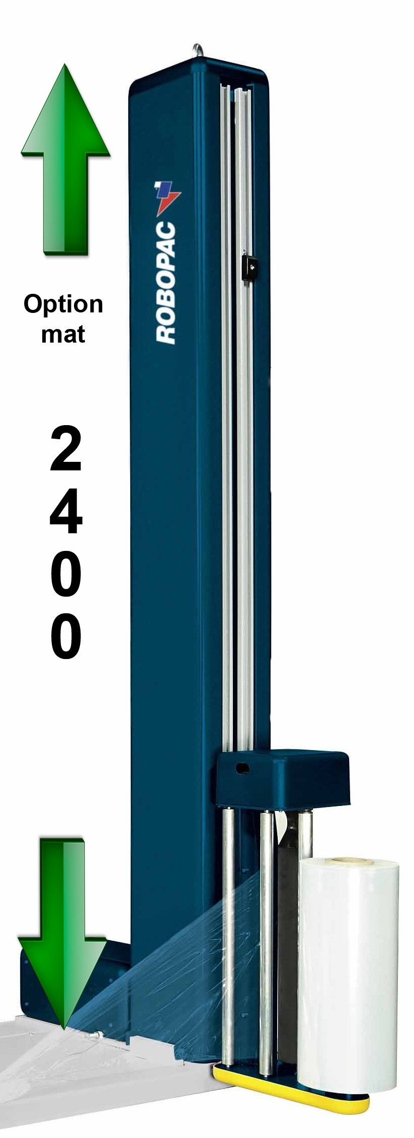 BANDEROLEUSES-PAS-CHERE-ECOPLAT-BASE option mât 2400 mm