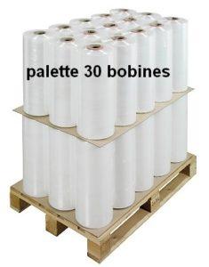film machine pré-étirage transparent palette de 30 bobines