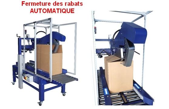 FERMEUSE DE CAISSE CARTON AUTOMATIQUE ROBOTAPE CF fermeture rabat automatique