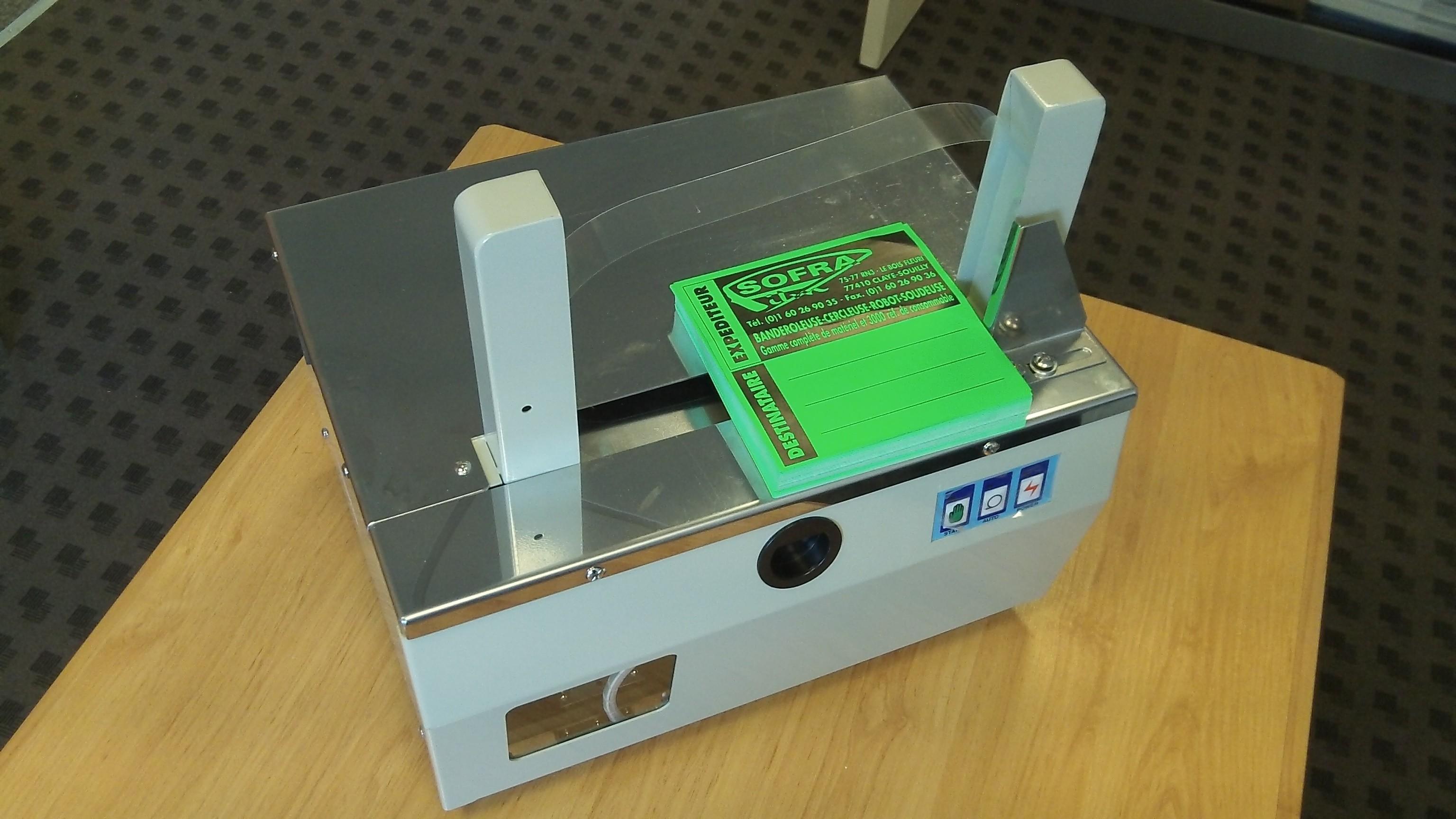 banderoleuse de table sa-88 liasseuse bande papier de table