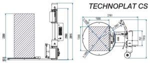banderoleuse AUTOMATIQUE TECHNOPLAT 507 PDS CS dimensions et encombrement