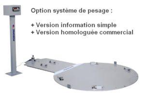 filmeuse AUTOMATIQUE TECHNOPLAT CW option kit de pesage palette