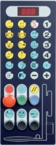filmeuse AUTOMATIQUE TECHNOPLAT CW panneau contrôle 4 programmes