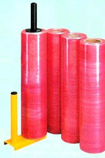 Film étirable couleur rouge opaque manuel