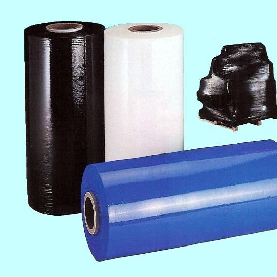 Film-étirable-automatique blanc noir opaque couleur
