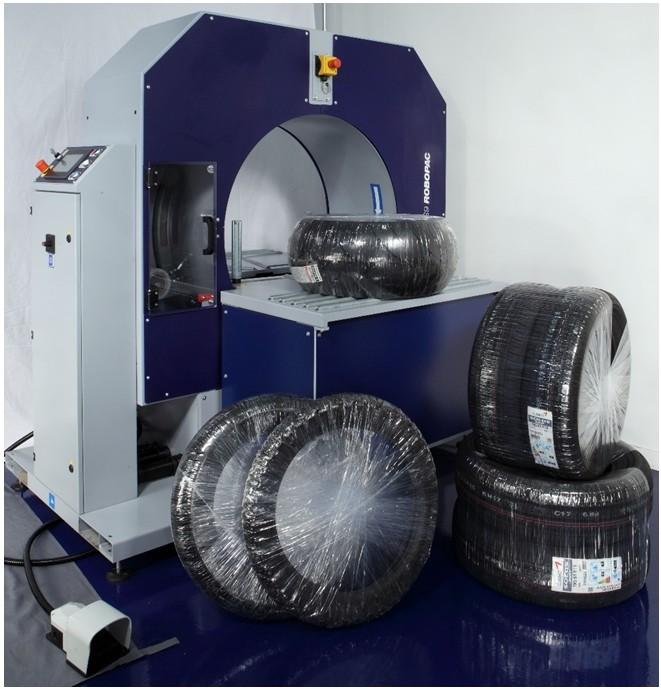 Banderoleuse de pneus pour utilitaire