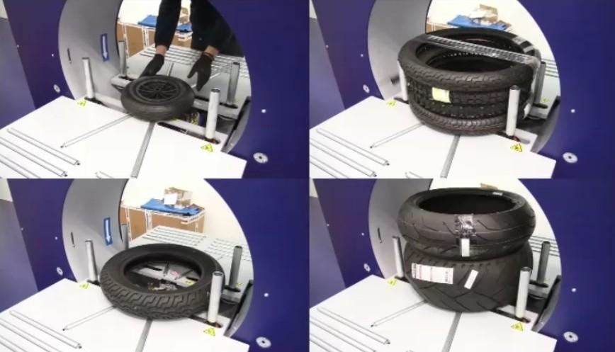 Banderoleuse de pneus pour utilitaire exemples colis