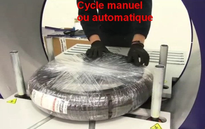 Banderoleuse de pneus pour utilitaire filmage manuel