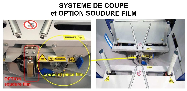 Banderoleuse de pneus pour utilitaire coupe soudure film étirable