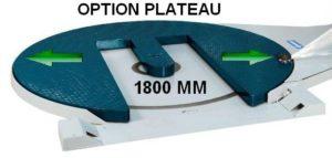 banderoleuse innovante 308 FR TP PLATEAU 1800 en option