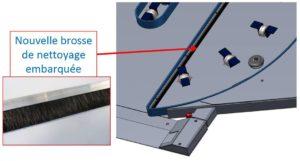 banderoleuse innovante 308 FR TP-308-FR-TP brosse table évidée
