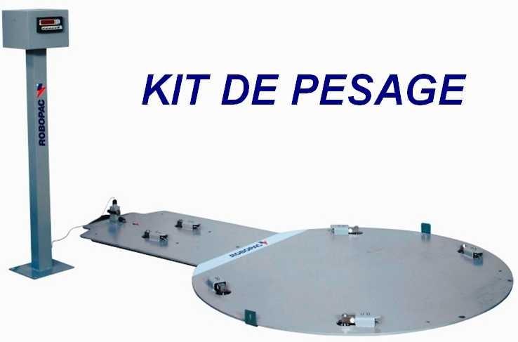 filmeuse palette multicouche 308 FR kit pesée