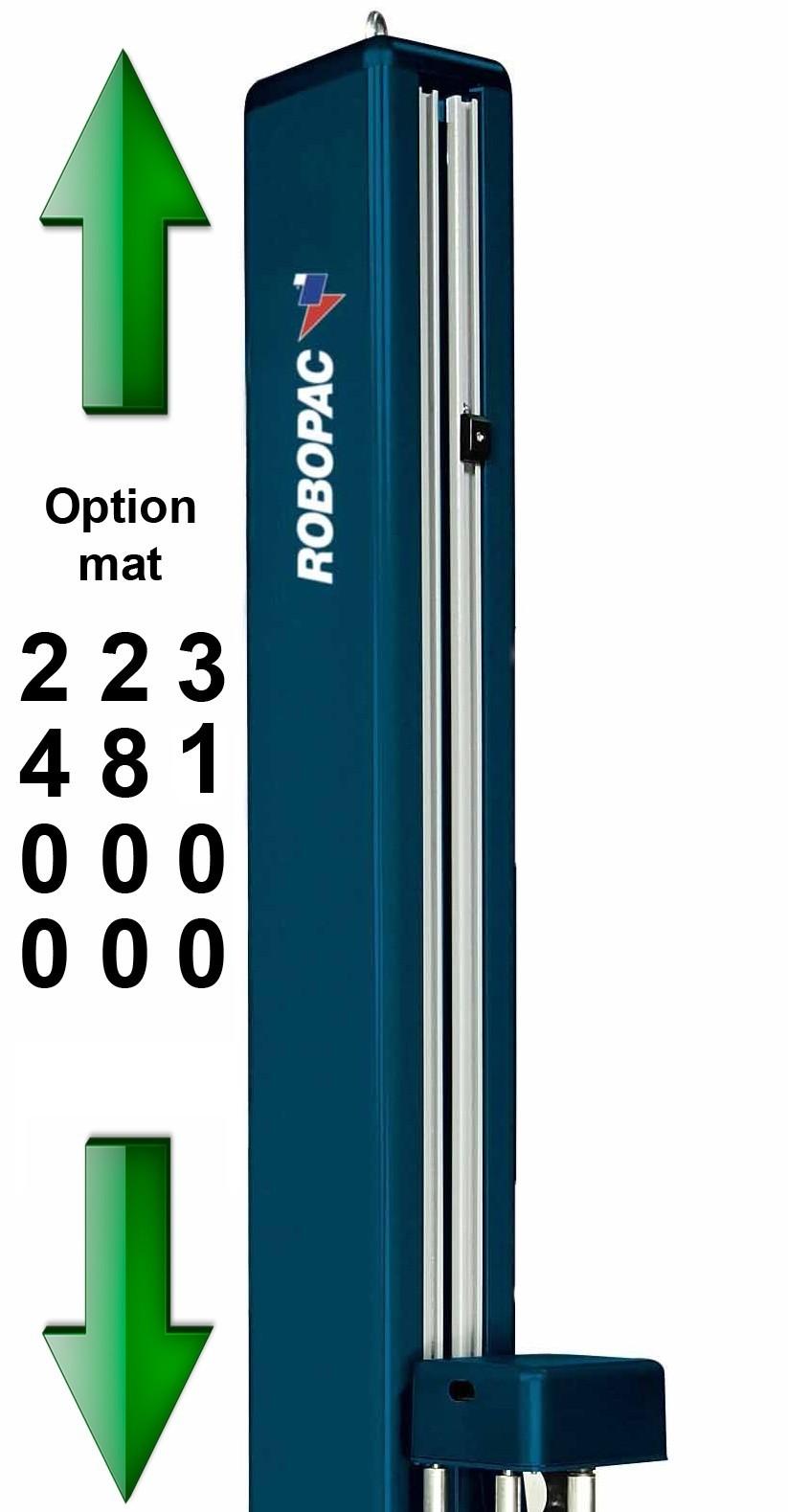 filmeuse masterplat pré-étirage fixe 250% PGS option hauteur mât