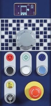 Filmeuse plateau gerbeur masterplat pgs TP3 bouton mécanique et joystick