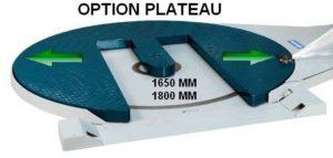 Filmeuse plateau gerbeur masterplat pgs option plateau 1650 1800