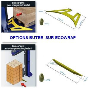 FILMEUSE ECOWRAP FREEZER option butée frontale et longitudinale