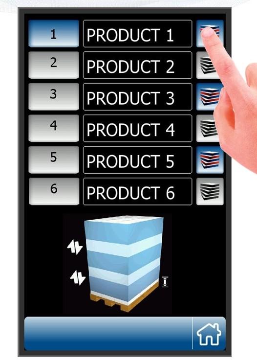 écran tactile personnalisable BANDEROLEUSE 508 PDS