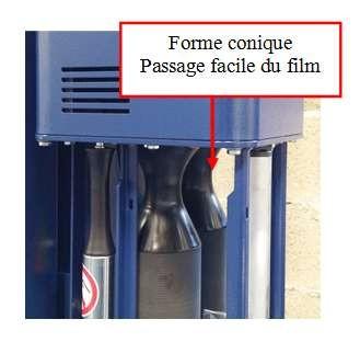 chargement film étirable sur FILMEUSE-508 PDS PRE-ETIRAGE