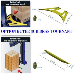 protection butée FILMEUSE BRAS TOURNANT EXTENSIBLE rotary 508 pds