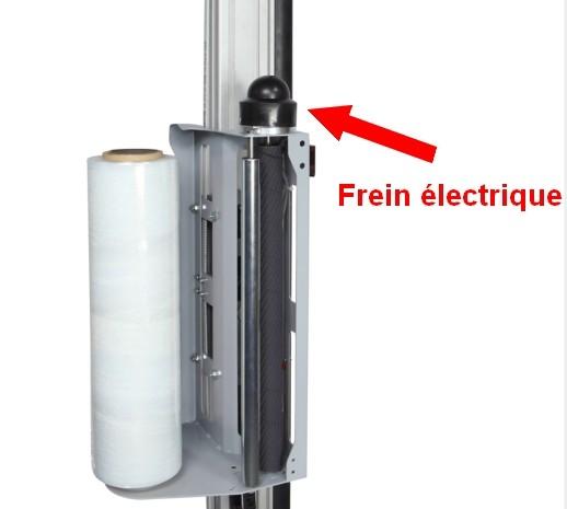 bras tournant frein électrique porte bobine film préétiré