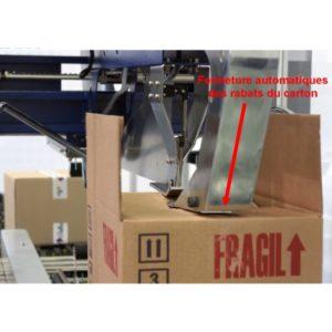 fermeuse carton fermeture rabat automatique