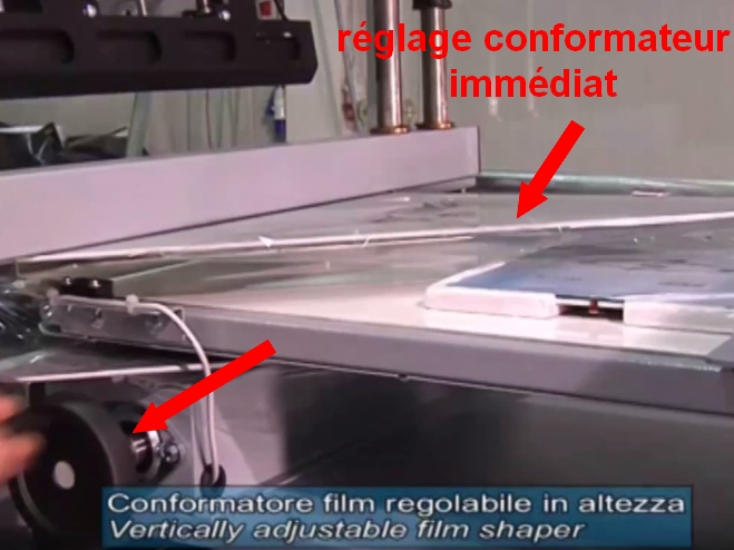 FARDELEUSE ATHENA COMBI soudeuse automatique conformateur film polyoléfine