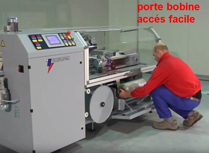 FARDELEUSE ATHENA COMBI automatique remplacement rouleau film rétractable
