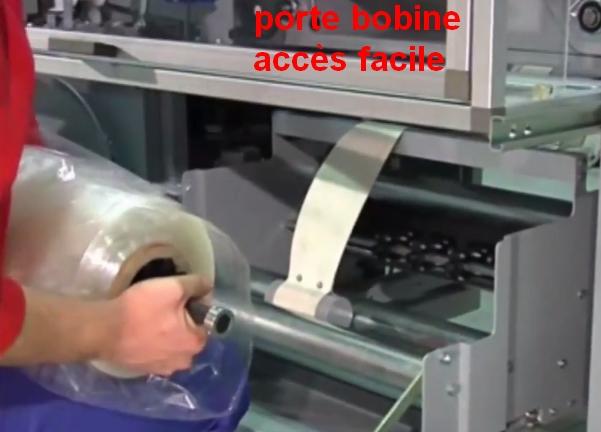 FARDELEUSE ATHENA COMBI automatique remplacement rouleau film polyoléfine