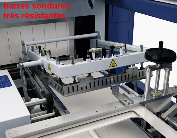 barres soudures téflonnées sur fardeleuse soudeuse automatique
