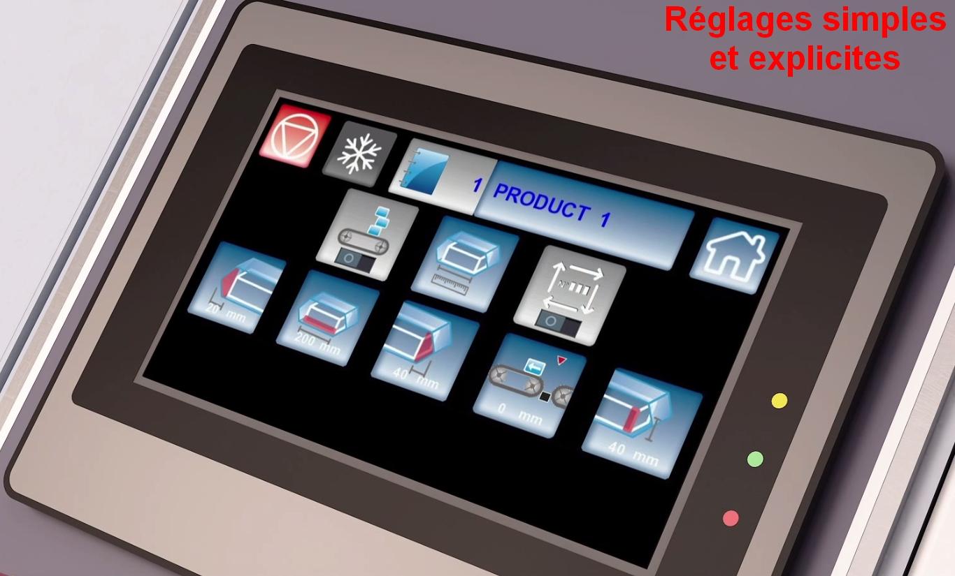 écran tactile couleur sur fardeleuse soudeuse automatique