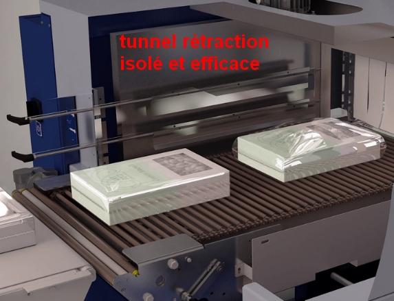 tunnel rétraction intégré sur fardeleuse soudeuse automatique