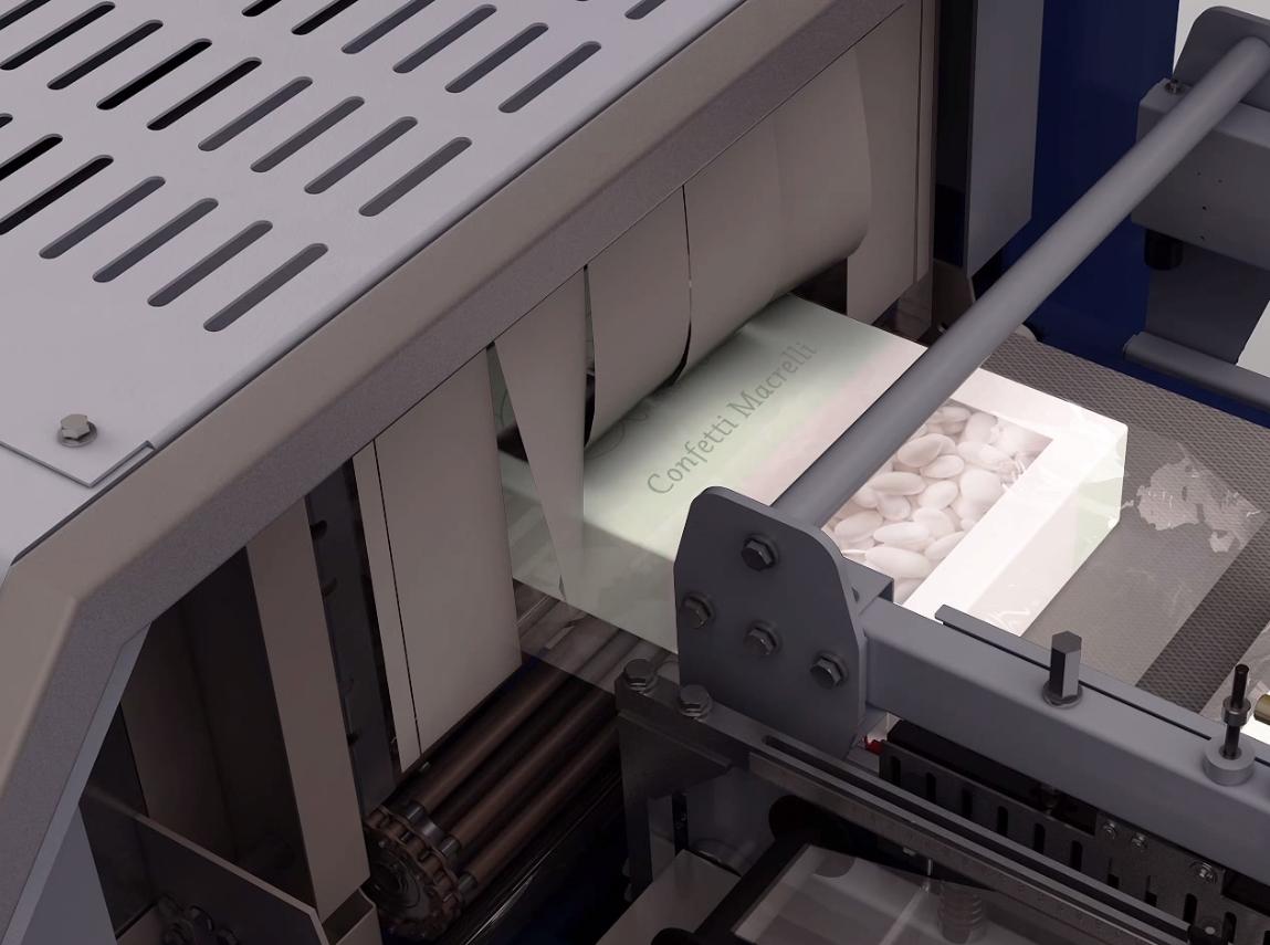 four rétraction intégré sur fardeleuse soudeuse automatique