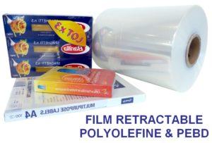 emballage prooduit sous film rétractable polyoléfine PEBD