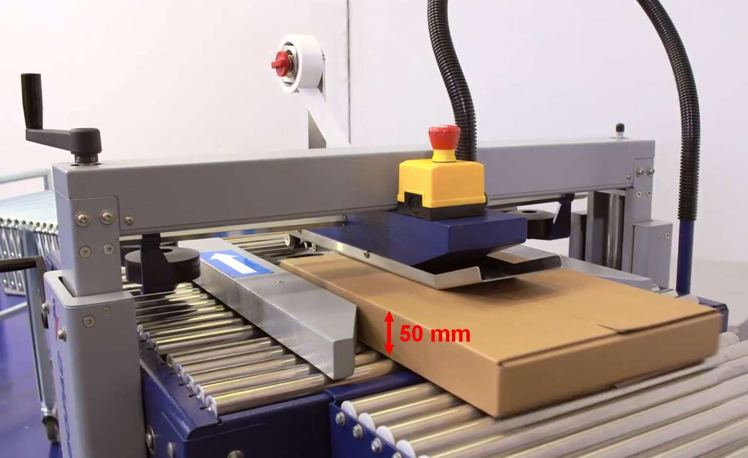 scotcheuse petit carton faible hauteur ROBOTAPE 50 ME LH avec petite boite