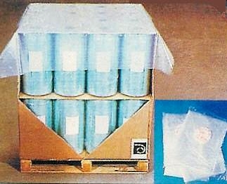 coiffe palette plastique bleu translucide en rouleau prédécoupé