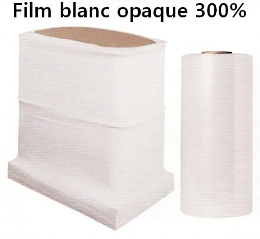 film machine pré-étirage blanc opaque 300%