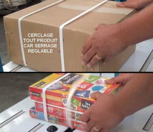 Machine de cerclage automatique TP6000 cerclage journaux dvd carton