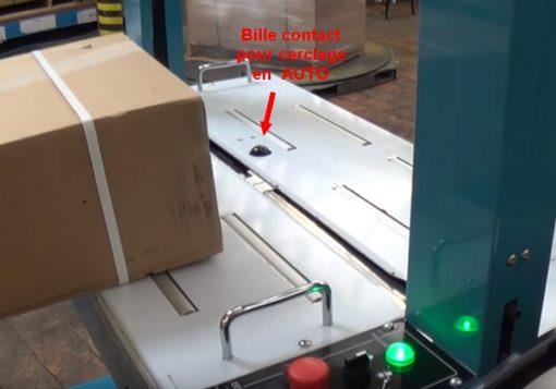 Machine de cerclage automatique TP6000 boule déclenchement auto
