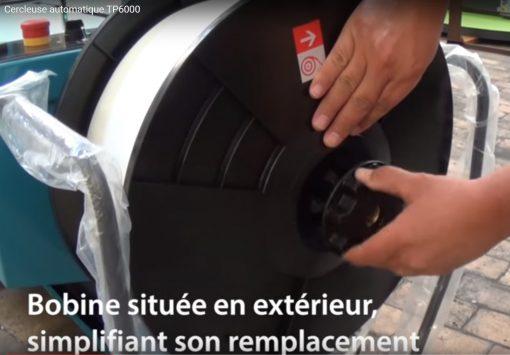 Machine de cerclage automatique TP6000 remplacement bobine feuillard PP