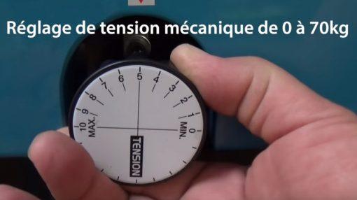Machine de cerclage automatique TP6000 réglage serrage cerclage