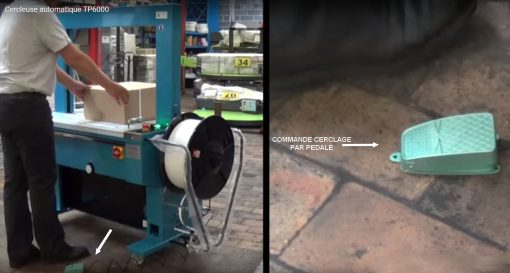 Machine de cerclage automatique TP6000 commande manuelle pédale